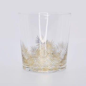 Glas mit Goldblatt