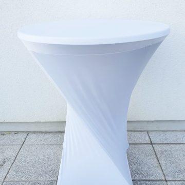 Tischhusse weiß