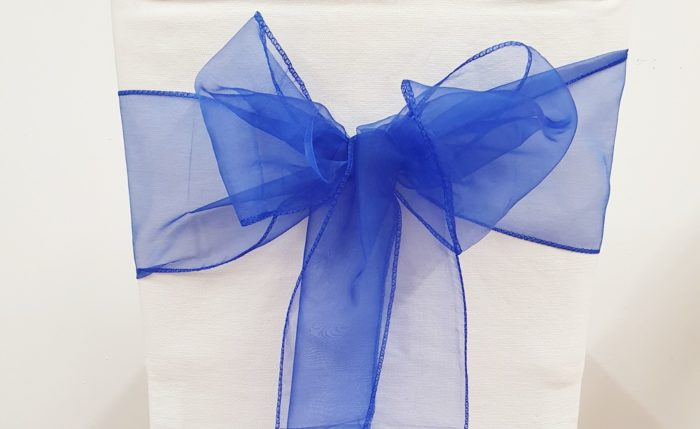 Stuhlschleife organza königsblau