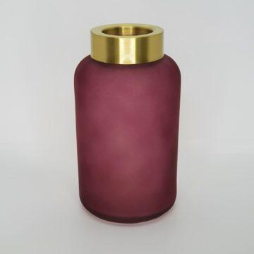 Vase weinrot mit gold Rand