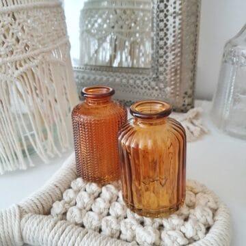 Vase orange braun